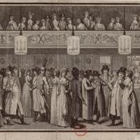 Scene of Directory Life, Men and Women from L'Optique du Jour, ou le foyer de Montansier