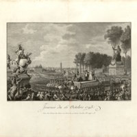 Execution of Marie Antoinette (16 October 1793) at the Place de la Révolution