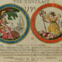 The Contrast, 1793 British Liberty/French Liberty