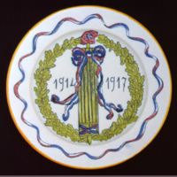 Plate: 1914–17 Quimper china
