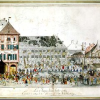 The Day of 21 July 1789; Scaling and Pillaging of the Hotel de Ville in Strasbourg