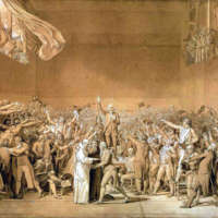 The Tennis Court Oath at Versailles by Jacques–Louis David