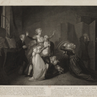 Last Meeting of Louis XVI with His Family at the Temple Prison